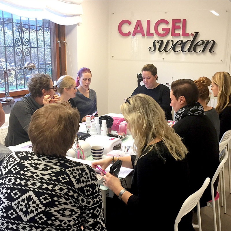 Kurs hos CalgelSweden nagelterapeut kurs