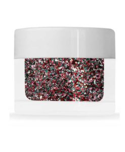 Mix av medium Flakes Cerise, Platinum och Aqua