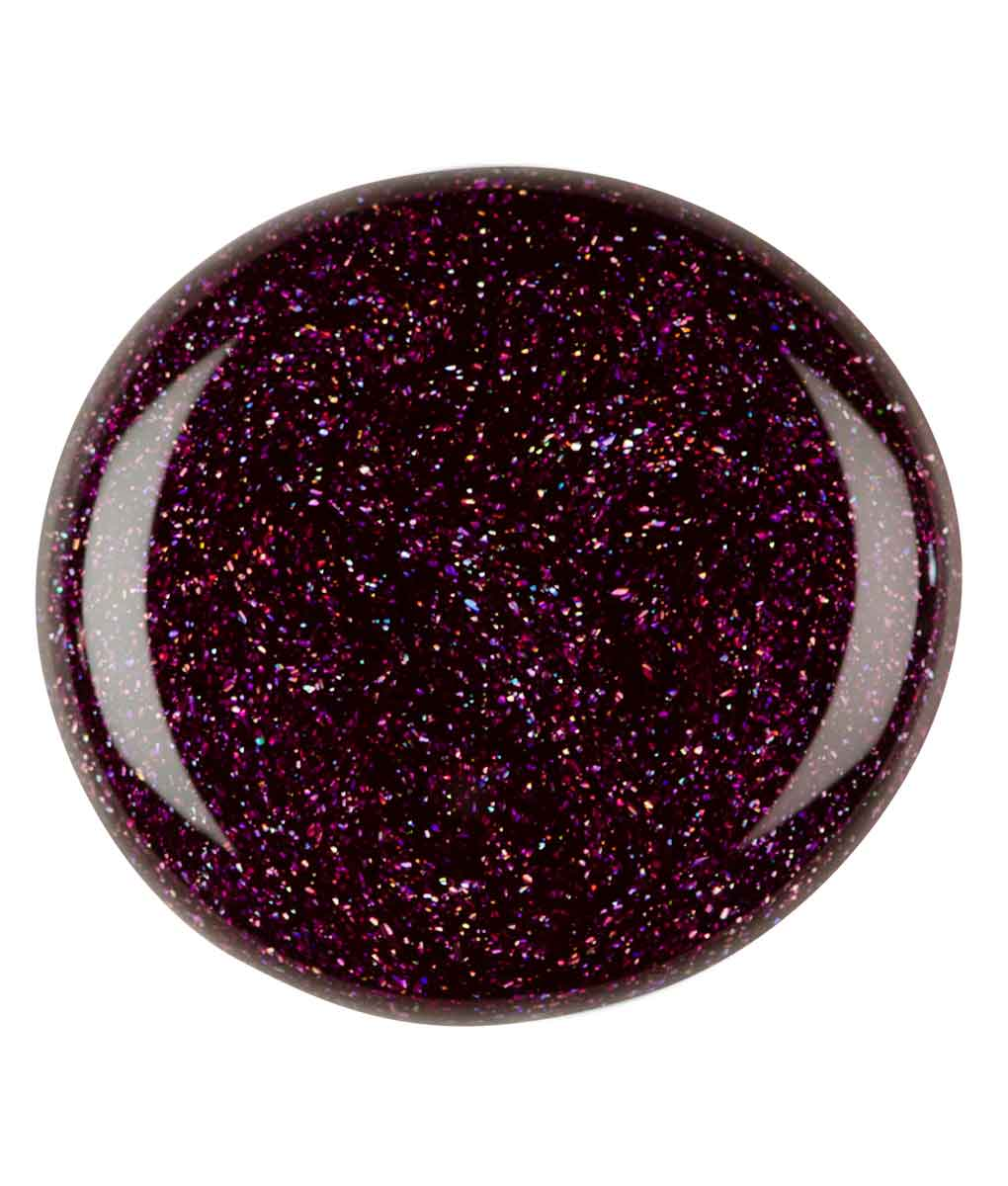 Plommonlila med glitter