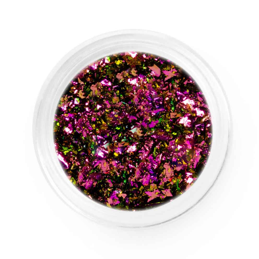Purple Gold Pink Chameleon Chrome Flakes