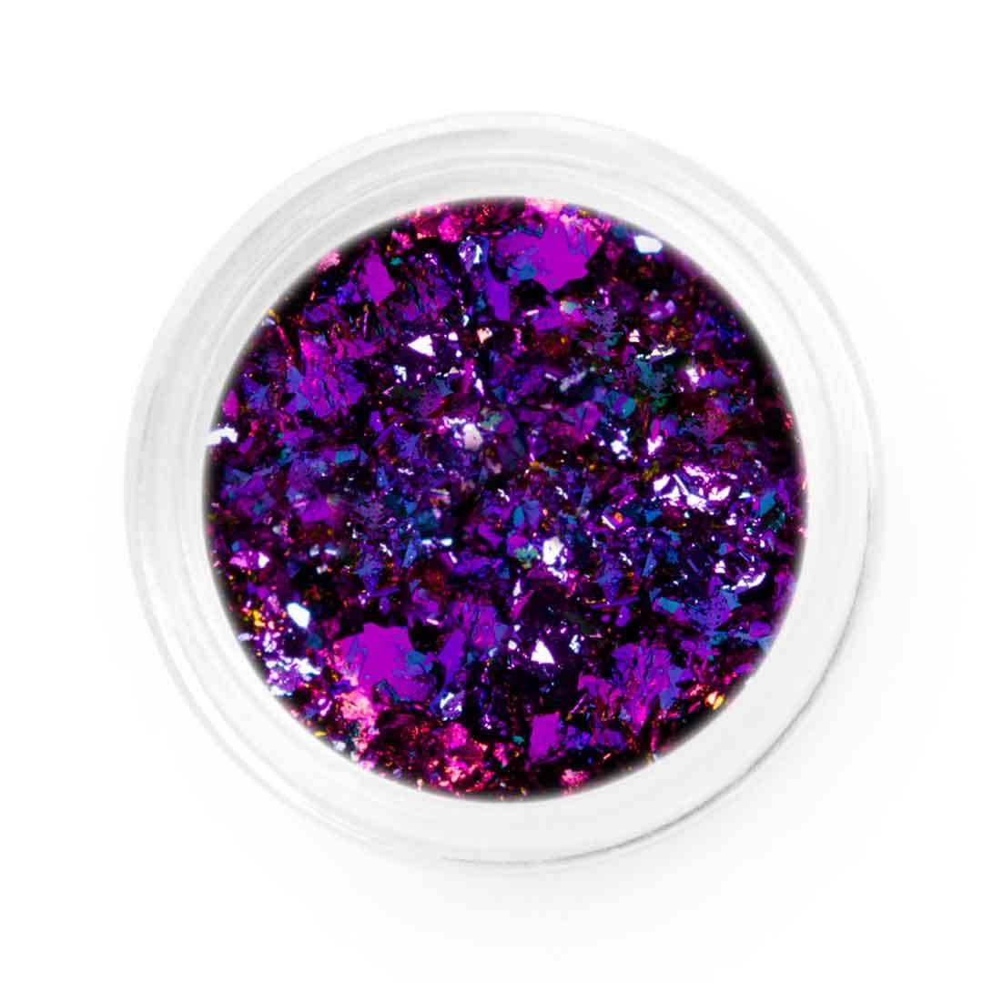 Purple Pink Blue Chameleon Chrome Flakes