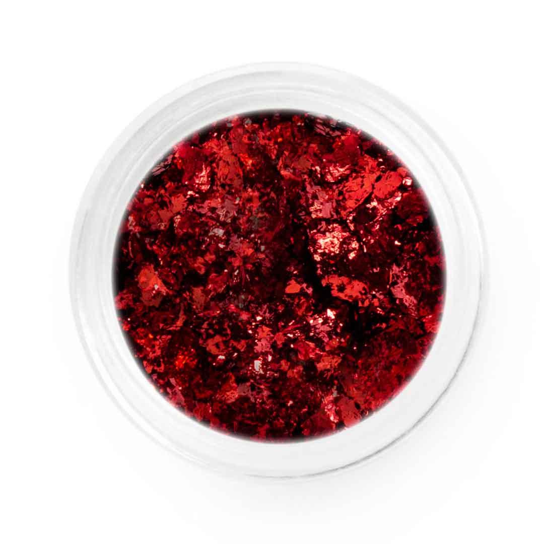 Red Metallic Chrome Flakes