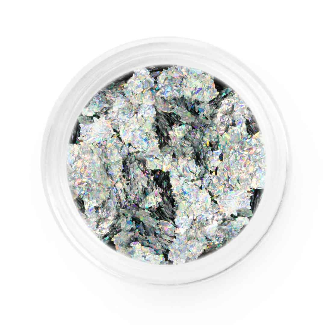 Silver Holo Metallic Chrome Flakes